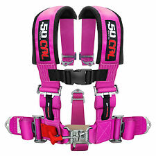 """Pink Racing 5 Point 3"""" Race Harness Lifted Monster Mud Truck Car Pro Street"""