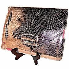 Rebecca Minkoff Rose Gold Metallic Snake Print Leather IPad Tablet Cover Case