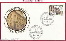 ITALIA FDC ROMA LUXOR LICEO GINNASIO STATALE E. Q. VISCONTI 1988 TORINO Z265