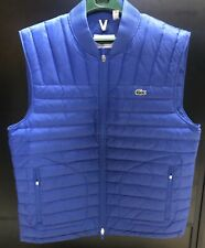 Lacoste Mens SZ XXL Water Resistant DOWN Puffer Vest! Blue New!