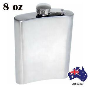 8oz Hip Liquor Whiskey Alcohol Flask Cap Stainless Steel Pocket Wine Bottle Gift