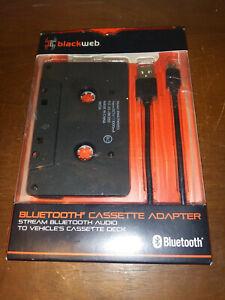 ☆ Blackweb Bluetooth Audio Cassette Adapter With Microphone - Black ☆
