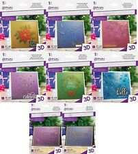 "GEMINI - 5 x 7""  or 6 x 6"" 3D Embossing Folders Christmas by Crafters Companion"