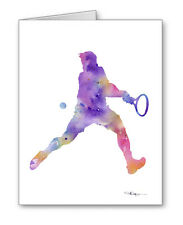 Tennis Player Note Cards With Envelopes