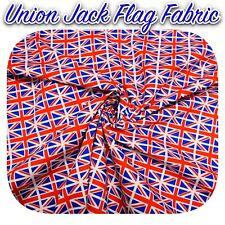 """Bandera británica Impresa Jersey De Tela De Algodón Cepillado Dty 60/"""" de ancho de alta calidad"""
