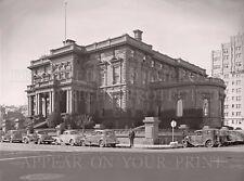 Flood mansion San Francisco CA 1940 car Victorian house Pacific Union Club photo