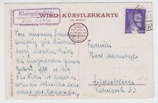 Landpoststempel   Kleinpürschütz über Kahla  1943