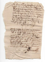 C1500 Nice POST Medieval signature MANUSCRIPT DOCUMENT