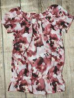 Ladies Size 12 ~ Target Floral Chiffon Blouse / Top / Shirt ~ MBC