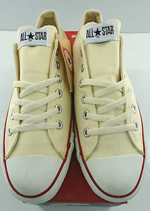 CONVERSE All Star Lo Sneaker  X9165 Unbleached White MADE IN USA Size 11.5-15