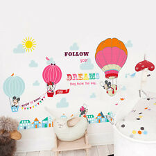 Mickey Minnie Mouse Hotair Balloon Kids Wall Art Stickers Nursery Decor Decal