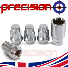 Chrome Locking Wheel Nuts and Key for Jaguar X-Type Aftermarket Alloys