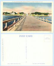 Municipal Pier Looking to Park Panama City Florida Postcard