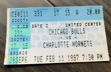 Chicago Bulls ticket stub  96/97 season vs Charlotte 2/11/97 JORDAN SCARCE