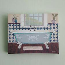 Adelene Fletcher Art Marketing Serene Canvas Watercolour Canvas Print Bathroom