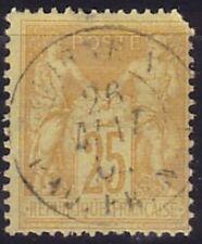SAGE - N°92 - CACHET MARITIME - LIGNE N PAQ.FR.N° - 1 DENT COURTE.