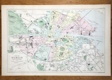 BACON LARGE MAP DUBLIN C1907 ORIGINAL