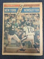 New York Jets / Giants - Football - 1971 Insiders Newsletter - NFL - Newspaper