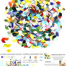 1000 Pieces Mixed Color Mosaic Tiles Mosaic Glass Pieces for Home Decoration ...