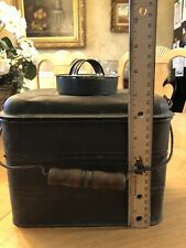 New listing Vintage Antique Metal Coal Miner's Lunch Box Pail
