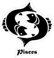 Sticker decal zodiac astrological astrology sign car vinyl fish pisces