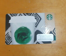 Starbucks White Green Coffee Cup Gift Card Brand New Never Swiped