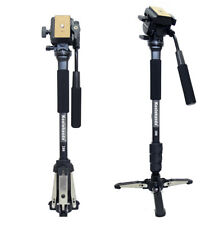YT-288Camera Aluminium Monopod Fluid Video Head with Base Support Stand