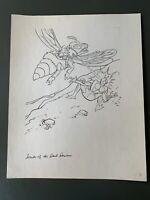VTG 1985 SECTAURS: SECRETS OF THE DARK DOMAIN COLORING BOOK ORIGINAL ART PG 9