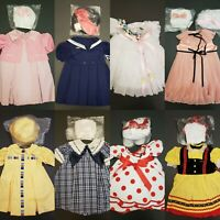 "Shirley Temple Playpal Outfits in Box- 8 Dresses for 35/36"" Dolls- Danbury Mint"