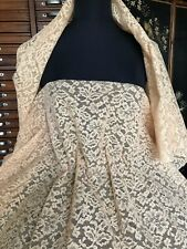 Beautiful Vintage Calais Lace piece - Sold per meter - 3m available - beige