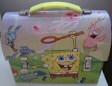 Spongebob Squarepants LunchBox Tin Collectible 2003 Domed Metal Lunch Box