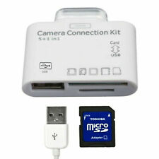 5 in 1 USB Camera Connection Kit SD Card Reader Adapter for Apple iPad/iPhone