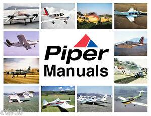 Piper Arrow, Arrow 3, Turbo Arrow 3 Repair SERVICE MANUAL PARTS MANUALS SET CD