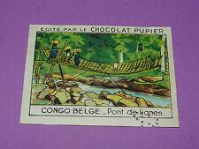 CHROMO CONGO BELGE N°231 PONT DE LIANES CHOCOLAT PUPIER AFRIQUE 1938-1950