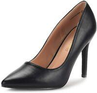 DREAM PAIRS Women's Heels Pump Shoes, Black Pu, Size 10.0 w0zW