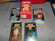 SET OF 4 STAR TREK BOOKS