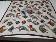 "Foulard Hermes vintage raro anni '60, pura seta  ""Aincre""per collezionisti 85x85"