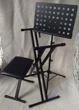 Leggio + Stand + Sgabello, Blocco Accessori per Piano e Tastiera