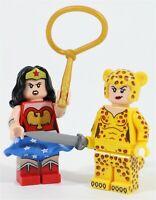 LEGO DC WONDER WOMAN & CHEETAH MINIFIGURES 77906 SDCC SUPERHEROS - GENUINE