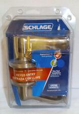Schlage Keyed Entry Flaire Lever F51 V Fla 619 Satin Nickel