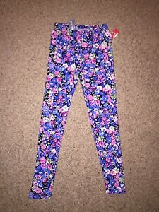 Floral wet seal leggings size one size fits all