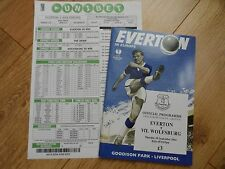 2014/15 - EVERTON v VFL WOLFSBURG - EUROPA LEAGUE + Matchday coupon
