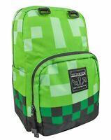 "Minecraft Green Creeper 18"" Children's Backpack Kids School Bag Rucksack"