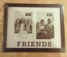 FRIENDS PHOTO FRAME~4 X 6 Holds 2 Pictures NEW Wall Hanging Collage Multi