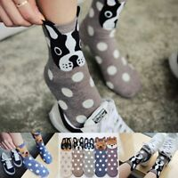 Lovely Soft Women Socks Cute 3D Cartoon Animal Dogs Cats Ear Cotton Warm Socks