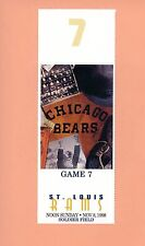 St.Louis Rams at Chicago Bears 1998 MINT NFL ticket stub Topps Isaac Bruce HOF