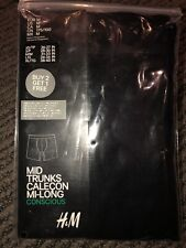 New H&M Mens Mid Trunk Black Medium M