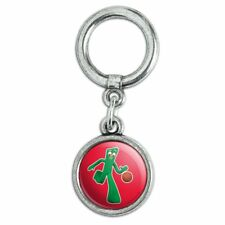 Sporty Gumby Basketball Player Clay Art Shoe Sneaker Shoelace Charm Decoration