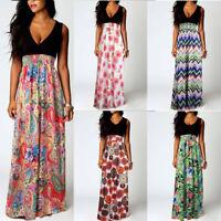 Boho Party Evening Maxi Cocktail Floral Women's  Sundress  Summer  Beach Dress