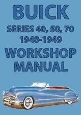 BUICK 1948-1949 WORKSHOP MANUAL: SERIES 40, 50 & 70